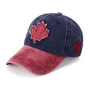 New Canada Flag Baseball Cap Women Cotton Canada Snapback Hat Mens Adjustable Baseball Hats Outdoor Visor Casual Hat B8