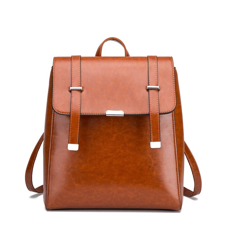 Новый бренд, винтажные женские кожаные рюкзаки, сумка для школы, женский рюкзак большой вместимости, дорожный Рюкзак Mochila Girl