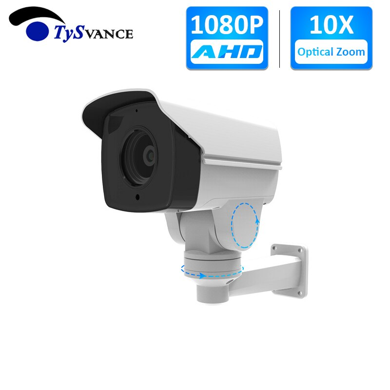 Cámara analógica 1080P 2.0MP CCTV AHD DM-SCB415AI-V10 5,1-51mm 10X Zoom óptico IR PTZ Bullet cámara de vigilancia de seguridad