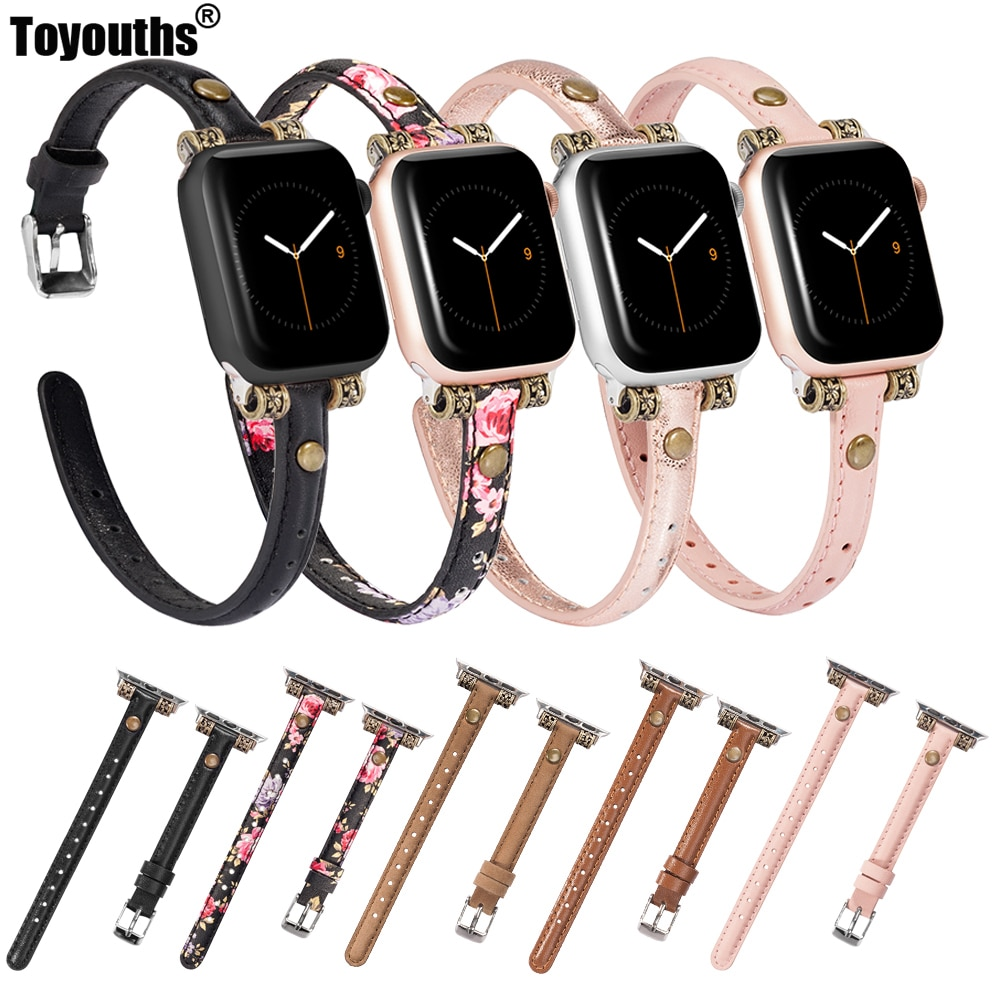 original black white lines leather strap for apple watch sport band 38mm 42mm for iwatch strap series 2 3 for iphone case set Slim Genuine Leather Strap For Apple Watch 4 5 44mm 40mm Women iwatch Band 42mm 38mm Wristband Strap for iWatch Series 4 3 2 1