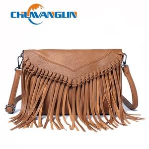 Chuwanglin Female Vintage Tassel Crossbody Bag Women Messenger Bag Ladies Casual Shoulder bags For Women HandBags 6091632