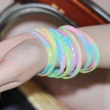 100 Pcs Großhandel silica gel shell boho bracele glow-out frauen armband coquillage charms cuban link armband bresilien