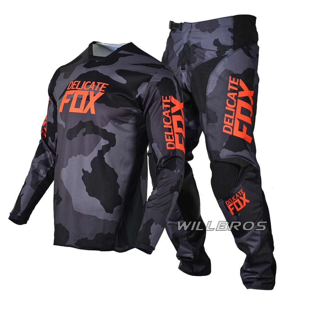Delicate Fox 180 Oktiv Trev Jersey Pants Motorbike Motocross Racing Suit Mens Kits Motorcycle Gear Set