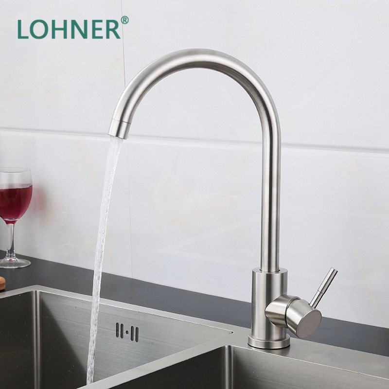 Lohner Drinking Water Faucet Stainless Steel Kitchen Sink Tap Robinet Cuisine Torneira Grifos De Griferia Para Cocina Cozinha traditional chrome finish brass water kitchen sink faucet tap torneiras para pia cozinha grifo cocina