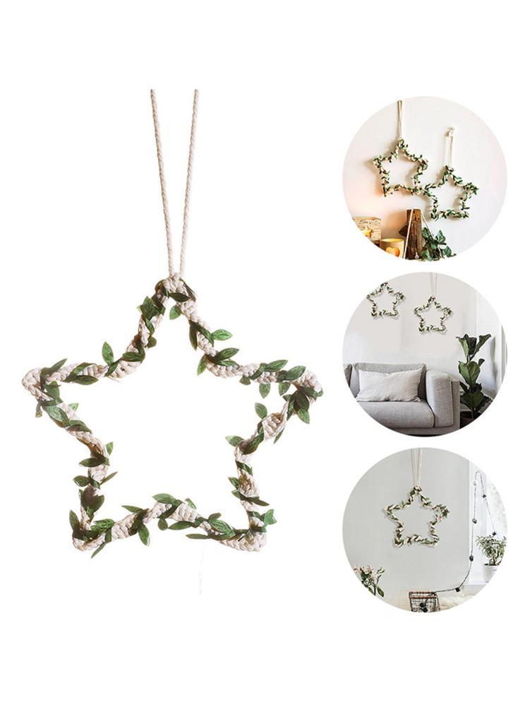 Tapiz tejido a mano, tapiz minimalista nórdico, guirnalda de estrellas, adorno colgante en la pared para decoración de oficina, Sala y dormitorio