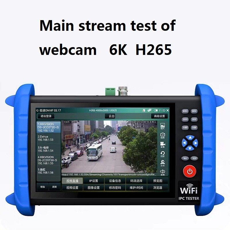 7 Inch H.265 4K 8MP IP/CVBS Analog /TVI/ CVI /AHD 8MP Wifi HDMI Security Signal PTZ ONVIF 12V24V48V POE Professional Test Tool enlarge
