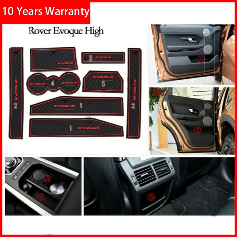 Auto Deur Mat Rubber Mat Interieur Cup Kussen Stof Mat Lnterior Anti Slip Poort Slot Mat Voor Range Rover Evoque 2012-2018 Styling