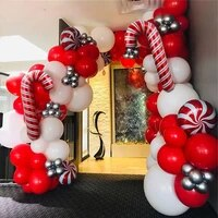 105pcs red white candy balloons garland kit chain christmas balloons decorations for home party helium globos navidad 2020