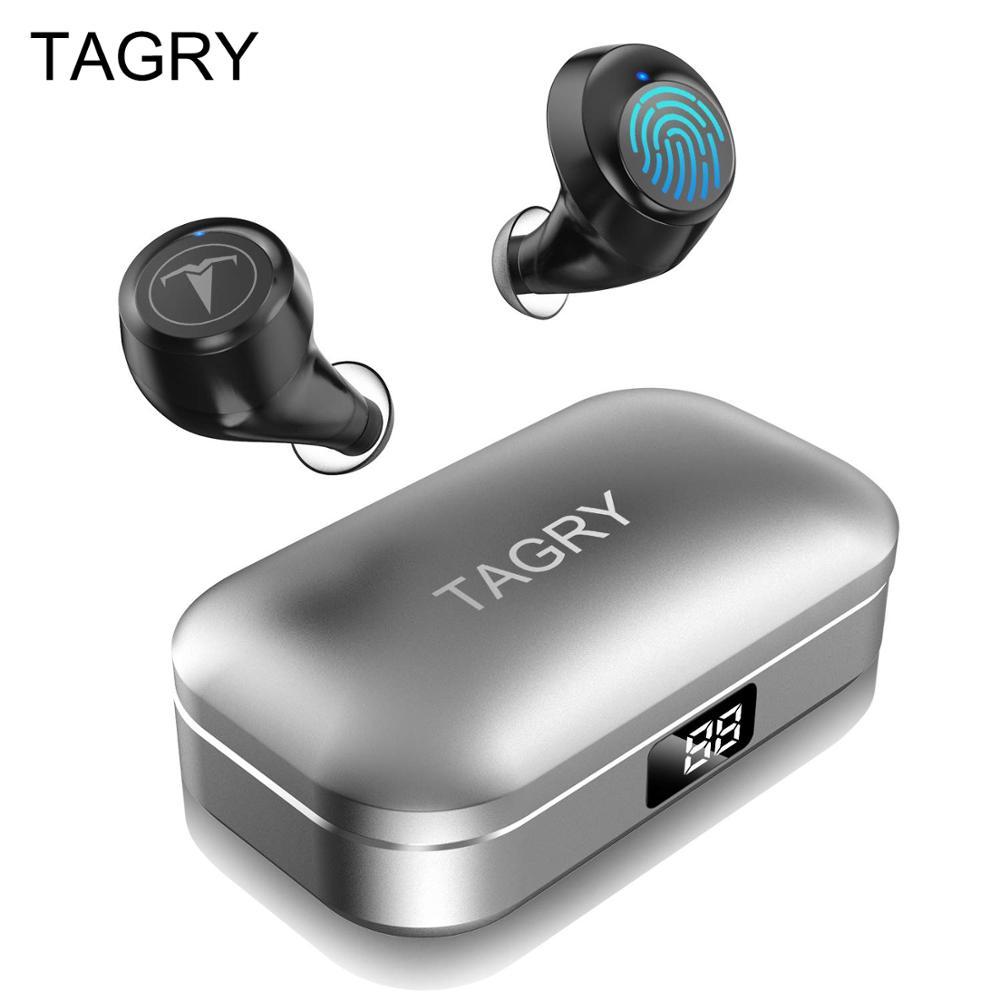 Auriculares Bluetooth TWS con pantalla Led 30H llamada binaural True Wireless auriculares Metal Charing Case con micrófono