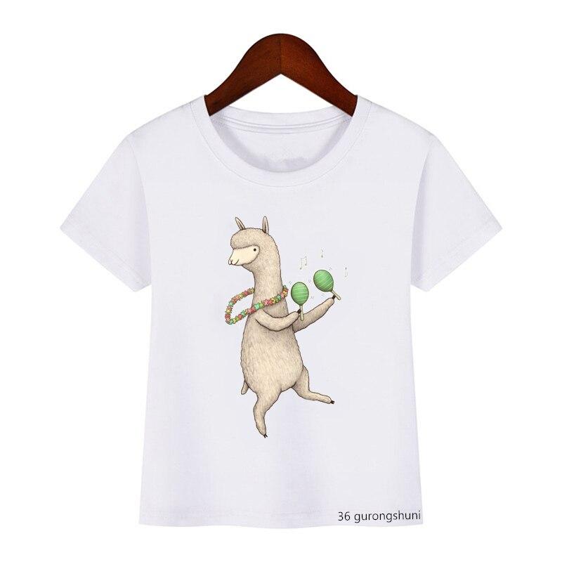 Camiseta Kawaii para niños y niñas, camiseta con diseño de oveja de...