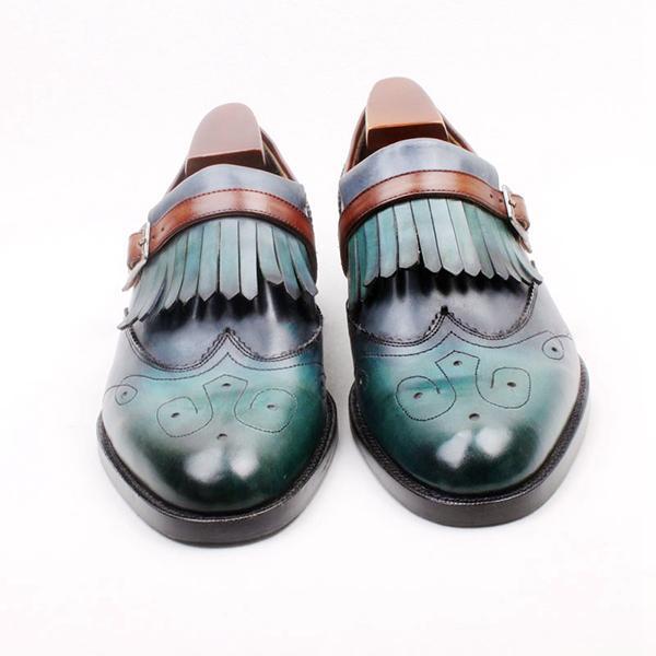 أحذية رجالي موضة جديدة اليدوية بو الجلود الانزلاق على فستان أحذية عادية أنيقة كل مباراة أحذية خفيفة بدون كعب Zapatos دي Hombre HA169