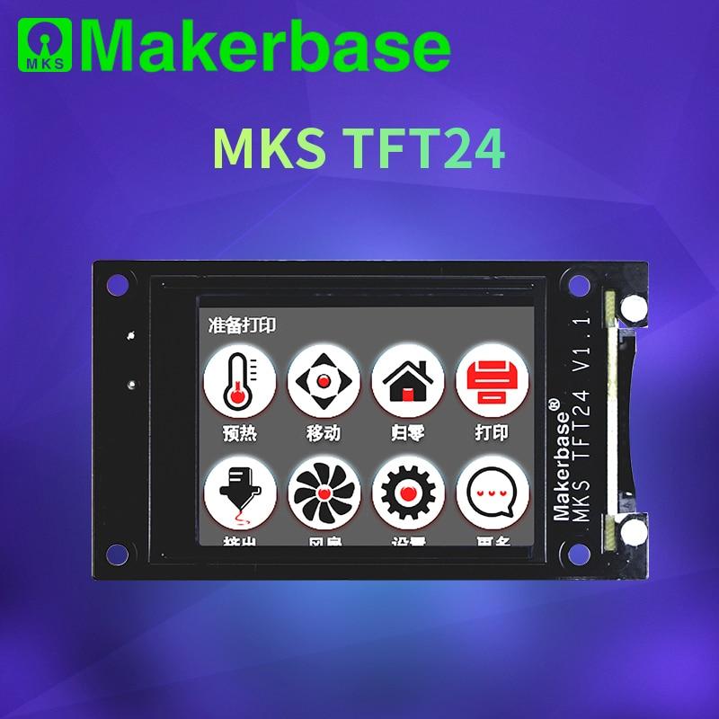 Peças da impressora 3d mks tft24 tela de toque inteligente display controlador 2.4 polegada cor cheia suporte wi fi controle sem fio navio rápido