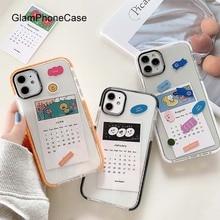 GlamPhoneCase 카드 캘린더 전화 케이스 iPhone11Pro/Max X XS Max XR 소프트 실리콘 커버 For iPhone11 7 8 6 6s Plus Case