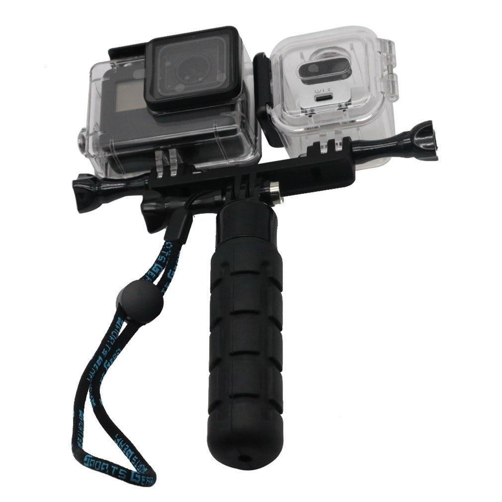 Soporte de cámara soporte de montaje trípode soporte de carga asiento de conexión para Gopro para sesión Hero4 y cámara de acción con luz de relleno