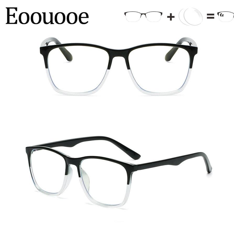Customize Lens Prescription TR90 Optical Glasses For Women Men Photochromic Anti blue Degrees Eyewea