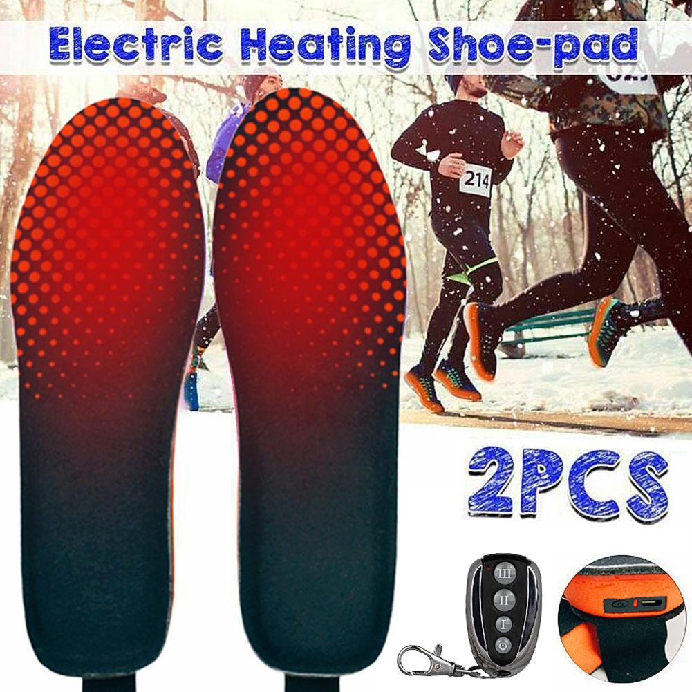 Зимние Стельки с дистанционным управлением, 1 пара, перезаряжаемые стельки с подогревом, регулируемая длина, для занятий спортом на открыто...