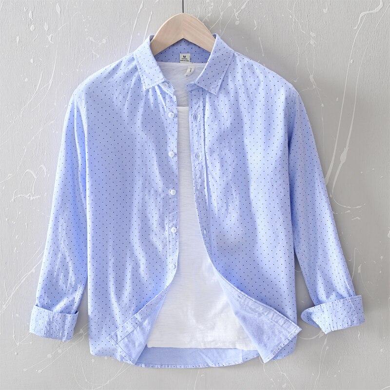 Camisa de marca Suehaiwe 2020, camisas azules de manga larga para hombres, Camisa cómoda informal, camisas de moda sólidas para hombres, camisas de overhemd para hombres