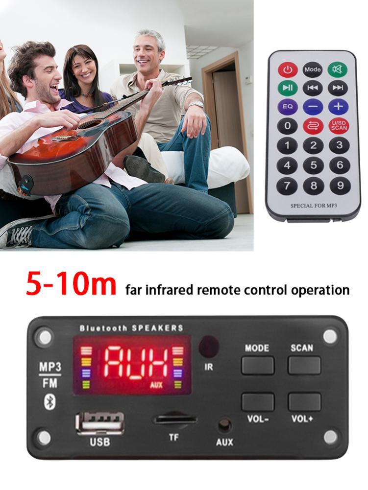 Высококачественный Автомобильный MP3 беспроводной модуль декодирования Bluetooth 5,0 прочный автомобильный декодер USB MP3-плеер TF слот для карт без...