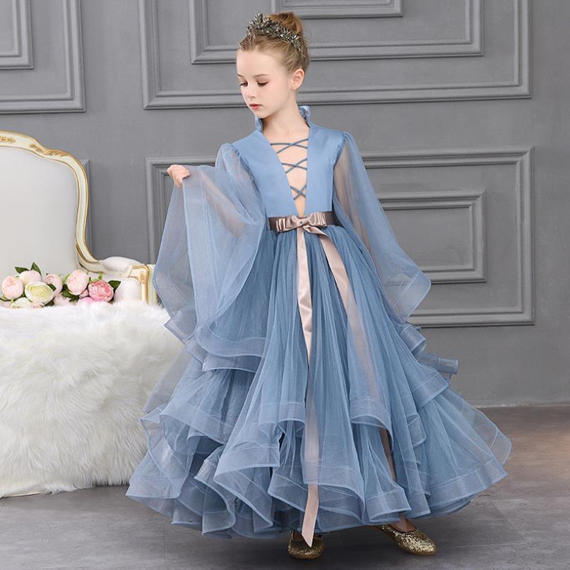 Новое летнее платье принцессы для девочек, 2020 модное платье без рукавов с блестками и разрезом для девочек, платье русалки для свадебной веч...