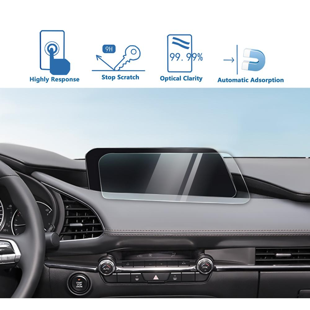 LFOTPP для M-azda 3 8,8 дюйма 2019 2020 автомобильная навигация с закаленным стеклом, защитная пленка для экрана, авто Защитная Наклейка для интерьера
