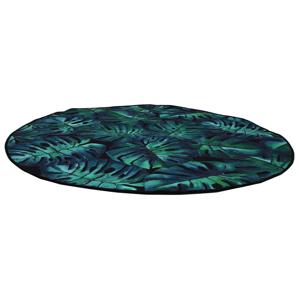 christmas trees gifts pattern indoor outdoor area rug 1Pc Round Floor Carpet Home Small Area Rug Unique Banana Leaf Pattern Crawl Rug