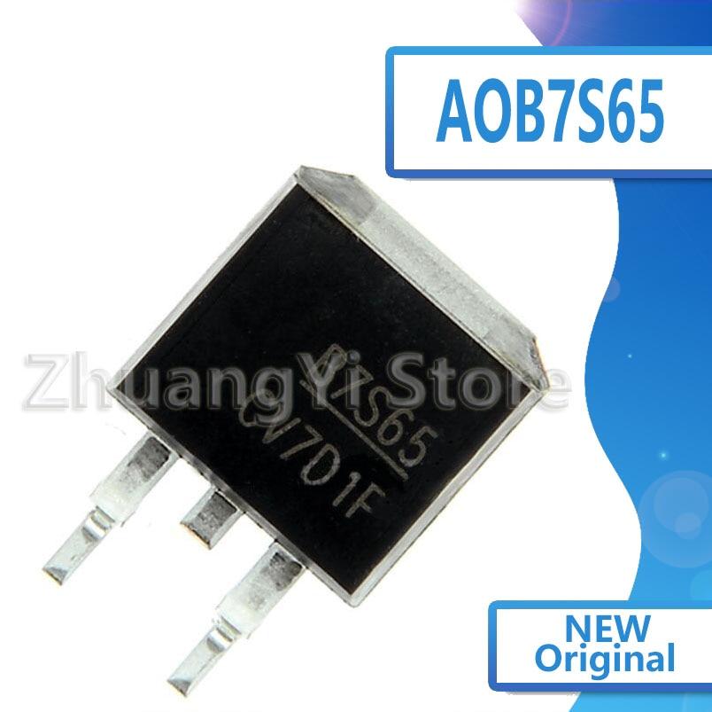 10 unidades/lote B7S65 AOB7S65, Nuevas existencias TO-263, 650V, 7A