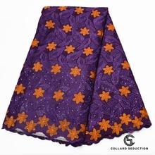 CS brodé suisse dentelle tissu africain dentelle tissu suisse voile dentelle en suisse nigérian dentelle tissu pour robe Discount