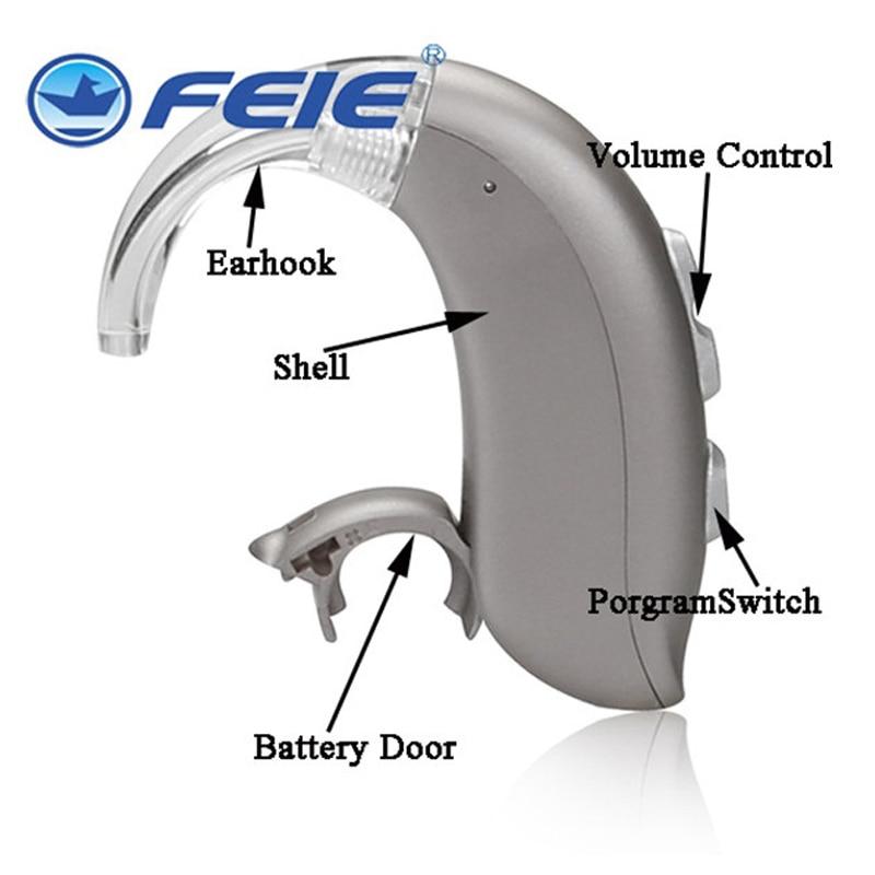 عالية الطاقة مساعدات للسمع BTE الرقمية السمع قابل للتعديل لهجة مكبر صوت محمول الصم المسنين MY-16 شحن مجاني