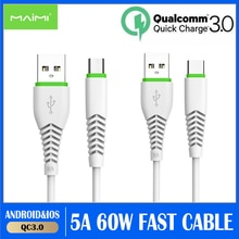 5A 1m USB Type C Cable Micro USB Fast Charging Mobile Phone Android Charger Type-C Data Cord For Hua