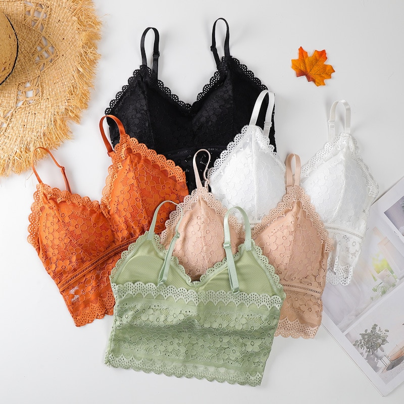 aliexpress.com - Linbaiway 2021 French Style Push up Bra for Women Solid Crops Tube Top Sexy Seamless Bralette Wire Free Brassiere Women Lingerie