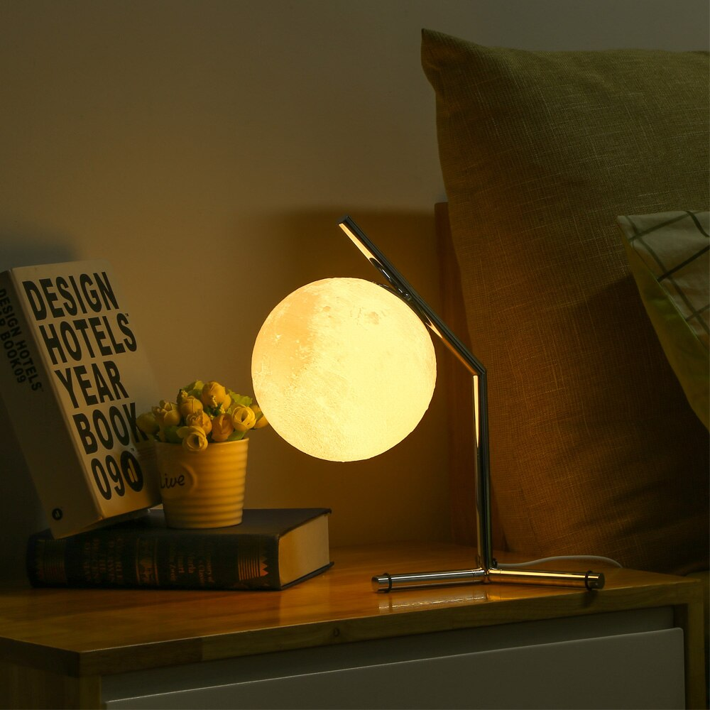 Original 3D Printing Moon Night Lamp Desktop Light For Bedroom Study Home Decoration Lighting