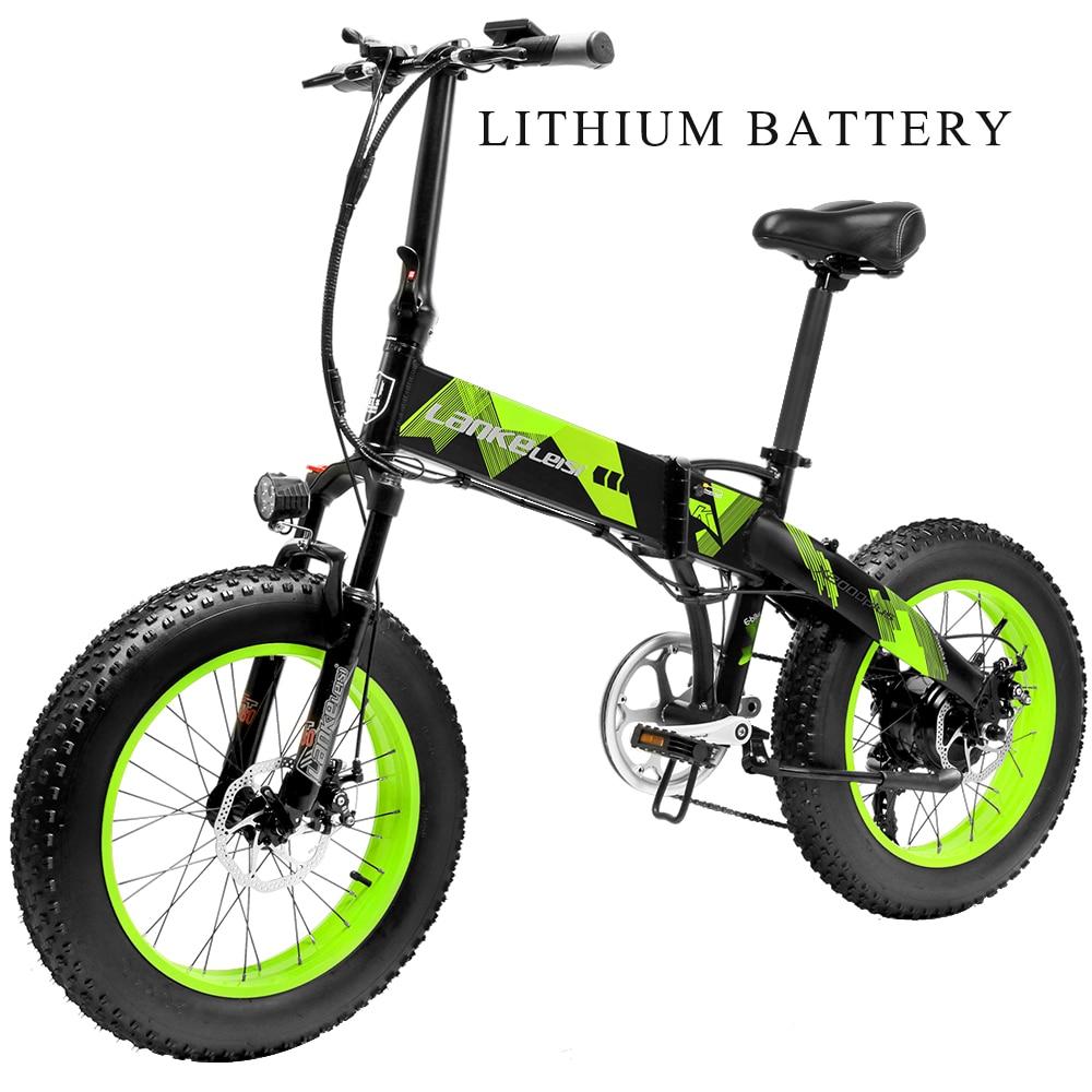 UE envío gratis Lankeleisi X2000plus mini bicicleta eléctrica plegable 48V 500W 35 KM/h 20*4,0 bicicleta eléctrica urbana