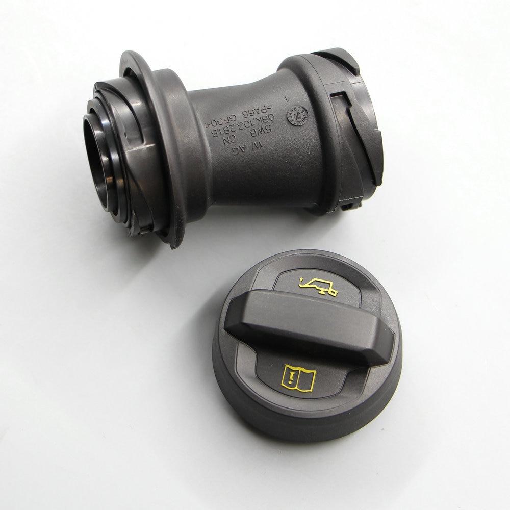 Se aplican a Passat B8L Tiguan L Golf 7 MK7 CC EA888 mejorado tapa de aceite de llenado de aceite de puerto de cubierta 05E 103 485 06K 106 de 281