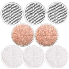8 шт. в упаковке Сменные накладки для швабры для Bissell Spinwave 2039A 2124 (в комплекте 3 Мягкие накладки + 3 накладки для скрубби + 2 Тяжелые накладки для скраба