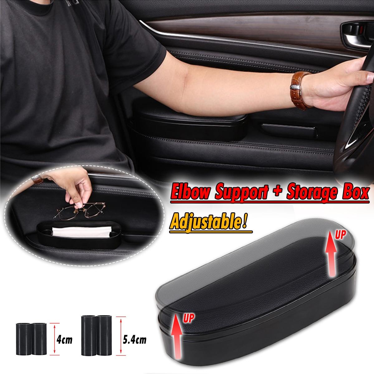 3 in 1 Anti Slip Matte Lagerung box Einstellbar Auto Ellenbogen Unterstützung Links Hand Armlehne Unterstützung Anti-müdigkeit Für reise Rest Unterstützung