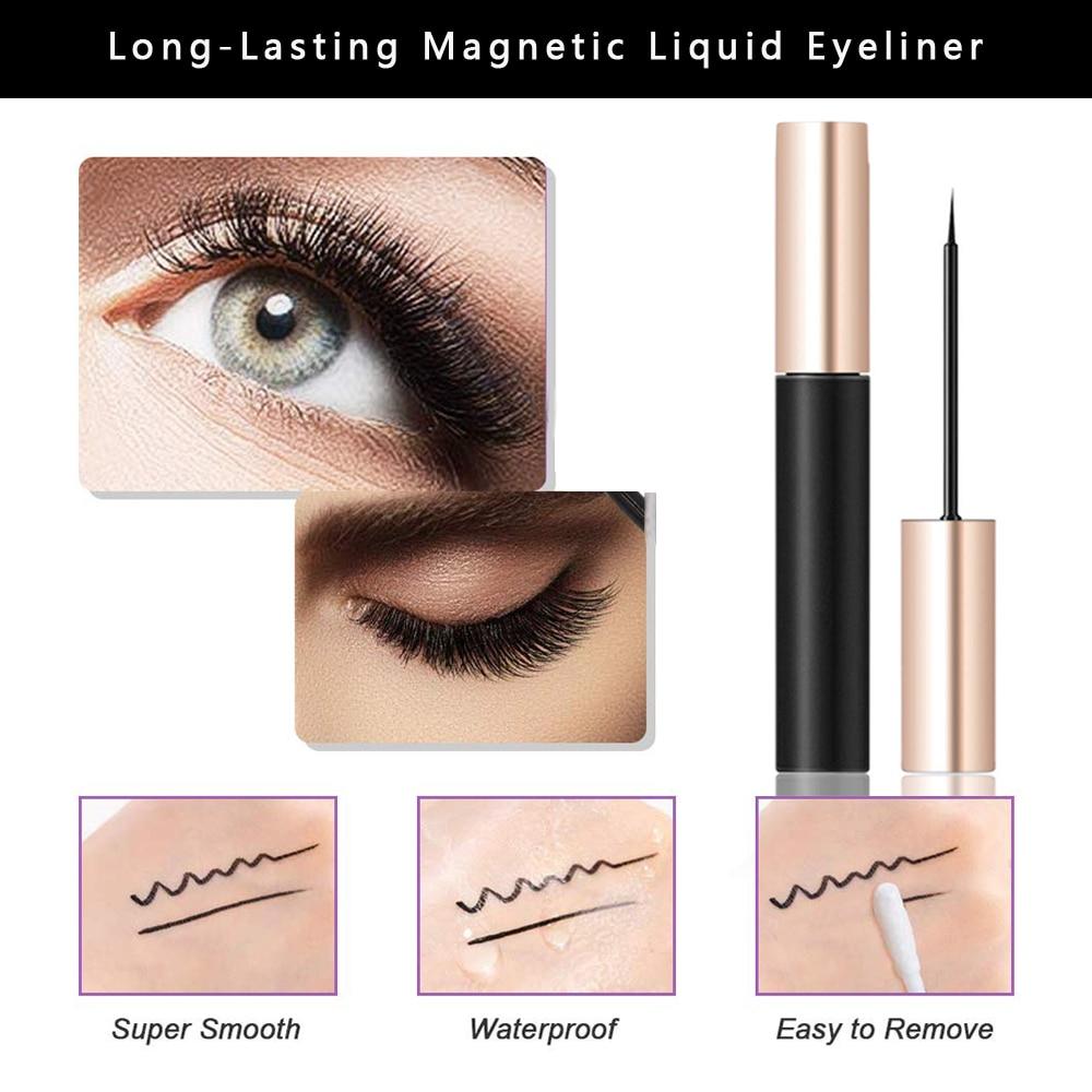 10 pairs von magnetische wimpern ZILIEN bequem und effiziente verwendung von nerz haar hand-maß magnetische wimpern Pinzette eyeliner