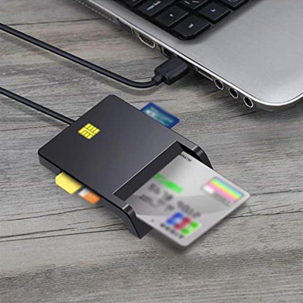 X02 USB SIM Smart Card Reader For Bank Card IC/ID EMV SD TF MMC Cardreaders USB-CCID ISO 7816 for Windows 7 8 10 Linux OS