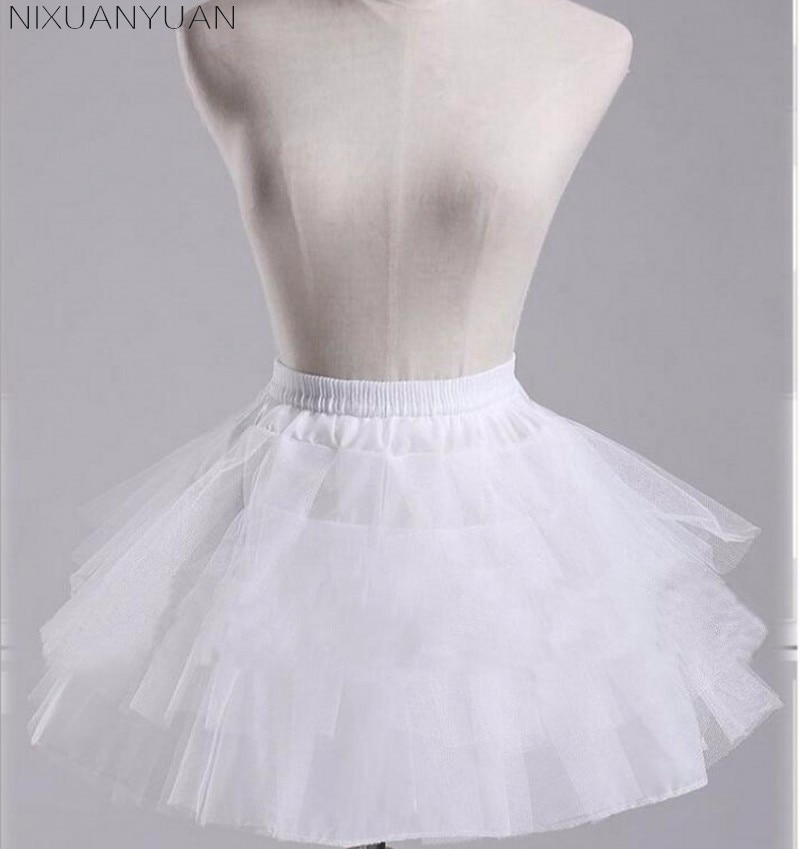 Wanita rok pendek putih atau hitam Seluar 3 lapisan bawah untuk gaun - Aksesori perkahwinan - Foto 6