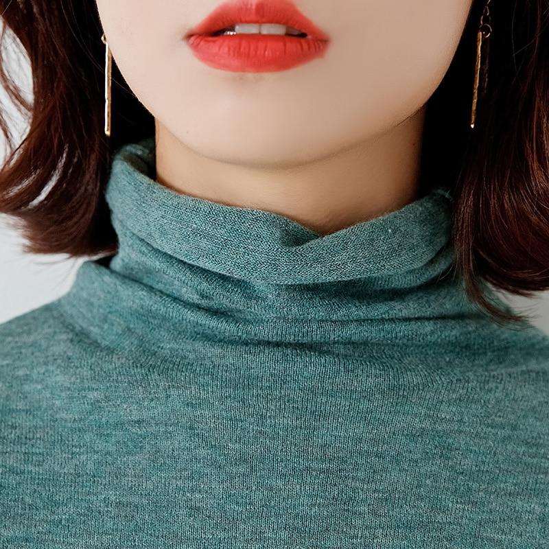 100% cashmere e lã camisola de malha para mulher gola alta macia fina pullovers senhoras jumpers 10 cores roupas femininas