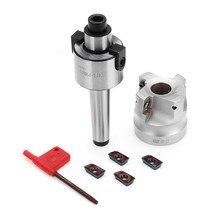 MT2 M10 400R 50mm fraise en bout de visage + 4 pièces Blue-nano APMT1604 Inserts en carbure avec clé T15 pour outils de fraisage