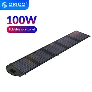 ORICO 100W Waterproof Foldable Solar Panel 18V 5.5A Max USB DC Charger For Mobile Phone Power Station Outdoor Charging