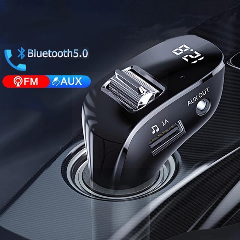 Bluetooth 5,0 Aux гарнитура беспроводной автомобильный комплект двойное авторадио Fm Автомобильный Usb плеер Автомобильный передатчик Mp3 модулятор ...