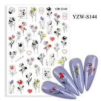 spring flowers nail art sticker butterfly eyes adhesive self glue 3d manicure nail art accessories fw093
