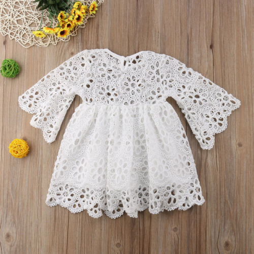 Family Matching Clothes Mother Daughter Dresses Women Floral Lace Dress Baby Girl Mini Dress Mom Baby Girl Party Clothes 8