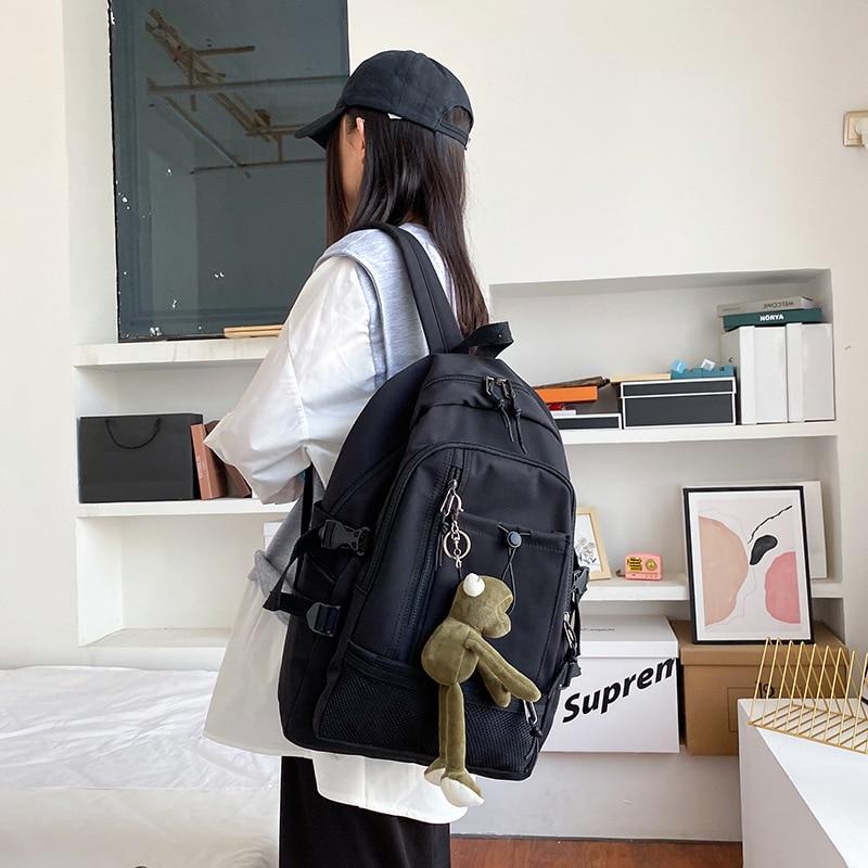 Casual Backpack Pure Color Large-capacity Travel Backpack Laptop Backpack Mochila Feminina Bolsa School Bags Bagpack Backpacks