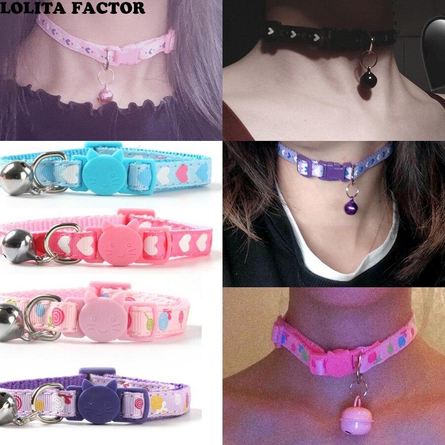 Dulce japonés collar Lolita chica conejo collar de moda Sexy oscuro negro Punk gótico mujer gargantilla regalo de la joyería