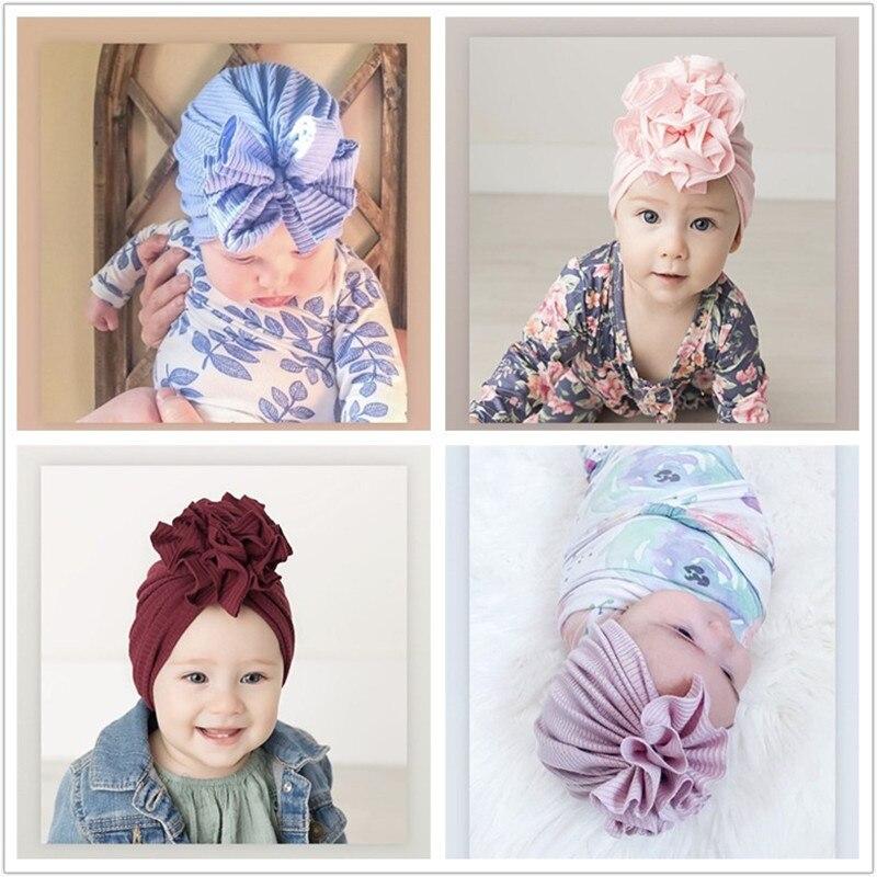 Baby Headband Solid Cotton Turban Headbands for Baby Girls Stretchy Beanie Hat Headwear Baby Hairband Faixa Cabelo Para Bebe