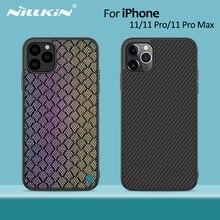 Nillkin الألياف الاصطناعية الكربون الغطاء الخلفي والنايلون آيفون 11 حافظة رقيقة ضئيلة آيفون 11 برو حافظة 5.8/6.1/6.5 ل iPhone11