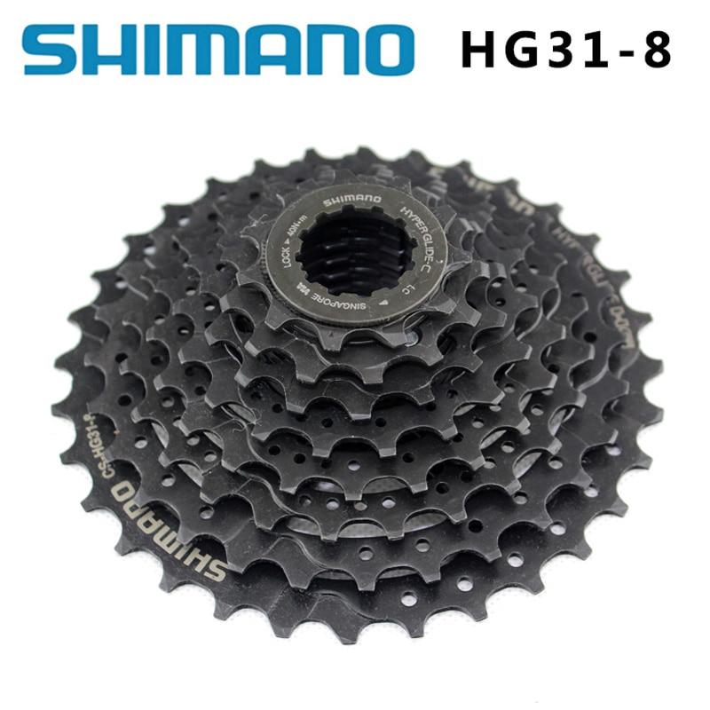 Shimano CS-HG31-8 MTB Mountain Bike 8 Speed Flywheel 8 Speed Cylinder Sprocket Star 11-32T Crankshaft bicycle Parts 8s / 24s