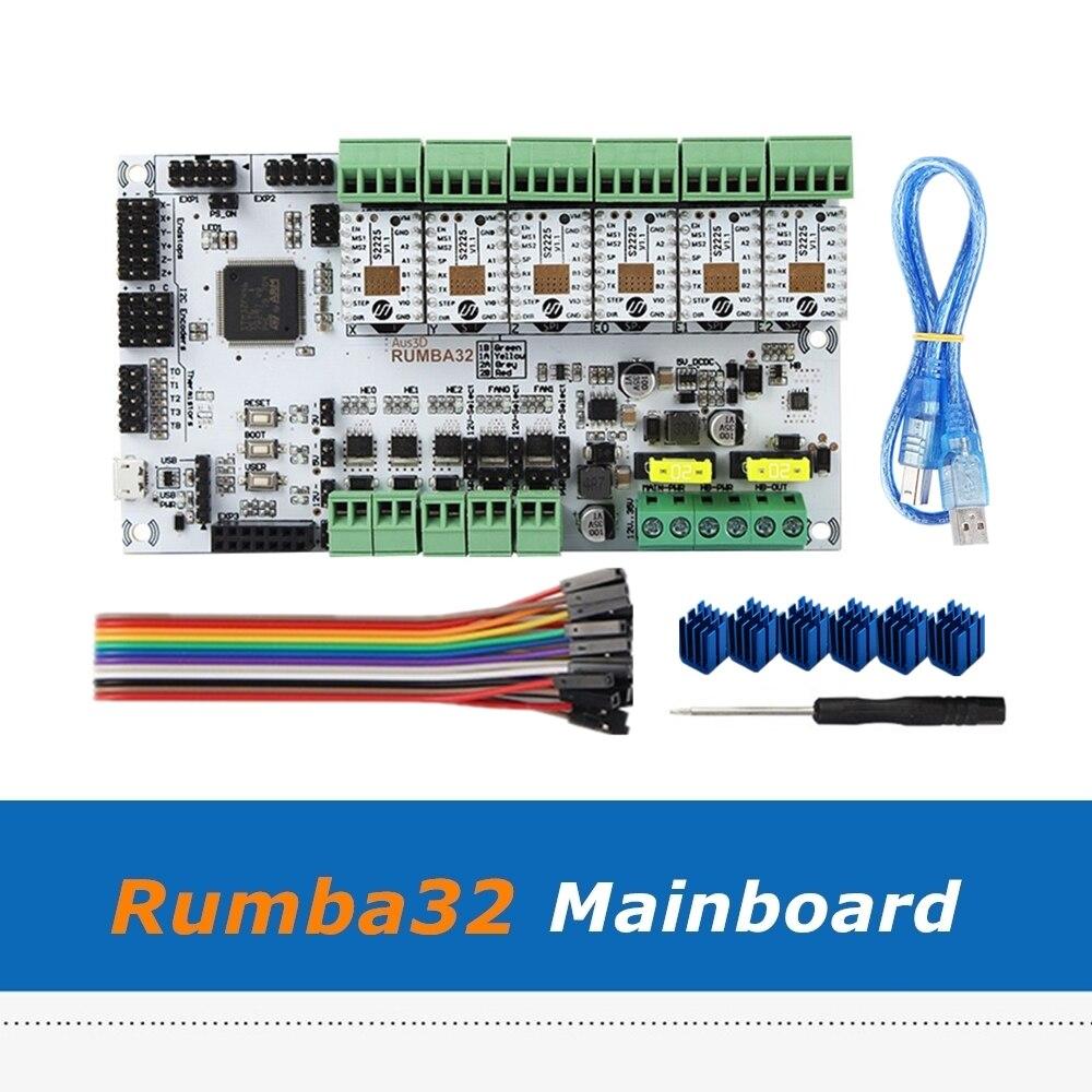 Rumba32 Rumba 32 Control Board + 6pcs TMC2225 Driver Module Compatible with Marlin 2.0 32Bit For 3D Printer Accessories